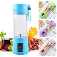 Mini Juicer Cup TWO Blades,Detachable Personal Blade USB Rechargeable Batteries