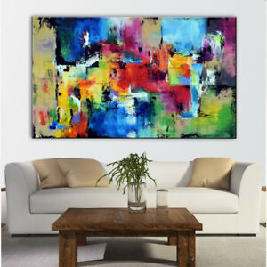 VV114 moderni dipinti a mano arte astratta dipinto ad Olio su Tela no telaio 24x48in