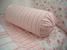 NEW Custom Ralph Lauren Summer Cottage Pink Stripe Neckroll Pillow Neck Roll