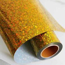 "T-shirt Vinyl holographic crystal gold heat transfer Vinyl HTV Iron ON 20""x20"""