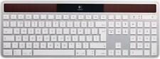 Logitech K750 Solar Wireless Keyboard - White/Silver