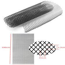 "1X 40""x13"" Rhombus Aluminium Black Grille Net For  Cars Bumper Body kit Fender"