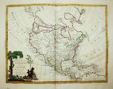 North America United States California Florida Canada Zatta map Karte 1785