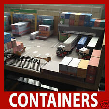Z Gauge 1:220 Rail Freight Container Model Card Kits Mixed Set x 12 Random