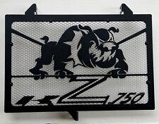 cache grille radiateur Kawasaki Z750 07>12 Bulldog noir mat + grill alu