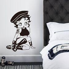 sexy Betty Boop girls novelty wall decals Art Vinyl Wall Sticker Home decor