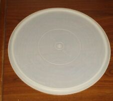 """#224 Round 12"""" Replacement Lid Seal White Sheer Tupperware Vtg Tray LARGE"""