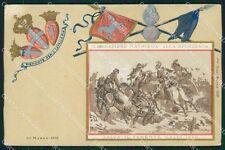 Militari II Reggimento Piemonte Reale Cavalleria Sforzesca cartolina QT7955