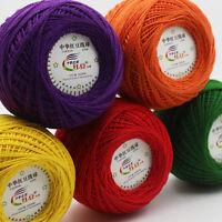 Sale Ball WOOL Cobweb Lace weight yarn Double knitting 100% cotton DK 50g