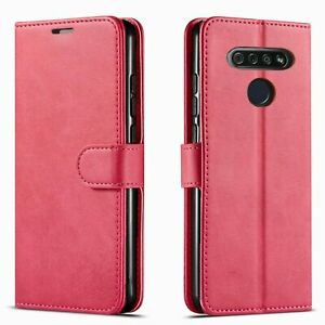 For LG K51 / Reflect Case, Premium Leather Wallet + Tempered Glass Protector