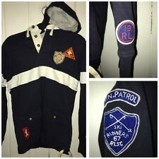 Polo Ralph Lauren Ski Club Mountain Patrol Rugby Hoodie Size Small Crest RARE