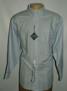 NEW WT BROOKS BROTHERS DRESS SHIRT SIZE 19 37 100%COTTON BLUE WHITE STRIPED #190