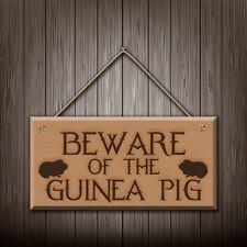 Beware Of The Meerschweinchen - Graviert holz wandschild/sign