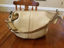 Coach ~ Beige Soft Pebbled Leather Classic Slouchy Hobo Shoulder Bag F10907