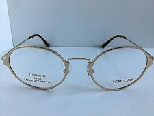 New Tom Ford Titanium FT 535 28 Gold 48mm Round Eyeglasses Frame Japan