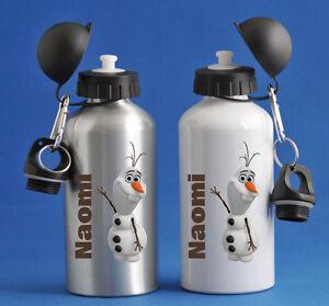 Frozen Olaf - Personalised Kids/Drinks/Sports Childrens Water Bottle