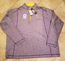 Men's Antigua Purple Minnesota Vikings Tempo Half-Zip Pullover Kirk Cousins 2XL