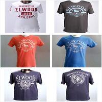 Elwood Mens 100% Cotton T-shirt Basic Tee Crew Top Casual Tee Shirt S-2XL SALE