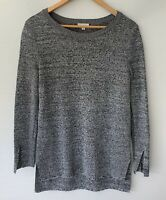ELKA COLLECTIVE beautiful grey Crepe Knit Jumper Size 8 10