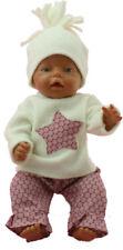 Puppenkleidung pass f. Baby Born Krümel JAKO-O Puppen 42-43 cm rosa Stern 2