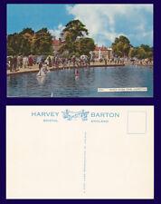 UK HAMPSTEAD WHITE STONE POND POSTCARD BY HARVEY BARTON CIRCA 1950