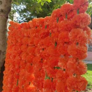 Wholesale Lot 150 Pc Artificial Marigold Orang Flower decor Garland Indien Event