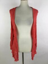 NWT Nic + Zoe Vermilion Silk Long Sleeve Open Knit Cardigan L $84
