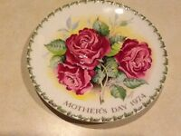 Crown Staffordshire Plaque mothers day 1974
