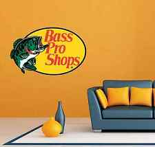 "Bass Pro Shops Fishing Fish Room Wall Decor Sticker Decal 25""X20"""