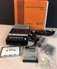 Vintage Channel Master 6322 Portable Cassette Recorder In BOX - Works