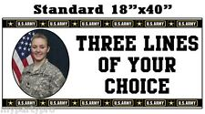 US ARMY CUSTOM STANDARD PHOTO BANNER Party Supplies FREE SHIPPING