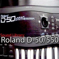 for ROLAND D-50/550 Factory & New Created Sound Library & Editors on CD