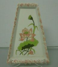 Joan Pompa Floral Peach Wall Plate or Centerpiece Plate Hand Painted Signed