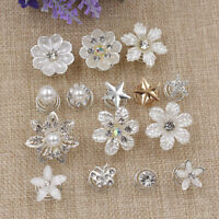 Flower Hairpins Clip for Bridal Wedding Party Decoration Alloy Jewelry 1 Set