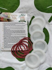 HARVEST GUARD Re-Usable Canning Lids and Rings Six Regular