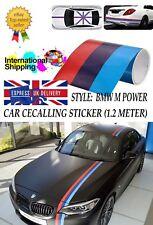 BMW M-Sport M3 M4 M5 M6 Racing Stripe Three Colour Roof Hood Stickers Car Decal
