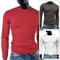 Mens Sweater Long Sleeve Top Crew Neck Jumper Slim Fit FITNESS Autumn OUTLET