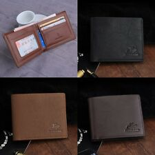 Men Bifold Business PU Leather Card Holder Coin Pocket Wallet Money Bag Purse