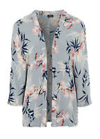 Flowing Viscose Silver Grey Kimono Style Cover up Jacket Size XXL