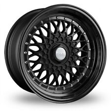 "ALLOY WHEELS X 4 15"" BLACK RS STAG FIT FORD B MAX ESCORT FOCUS PUMA SIERRA 4X108"