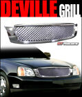 For 2000-2005 Cadillac Deville Chrome Honeycomb Mesh Front Hood Bumper Grille  for sale