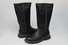 UGG AUSTRALIA BROOKS TALL LEATHER SHEEPSKIN BLACK BOOT SIZE 6 US WOMAN