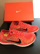 New Nike Free 4.0 Flyknit Bright Crimson Sneakers Mens's Size 10