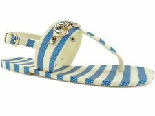 Kate Spade New York Women's Polly Blue/Cream Striped Sandals Size 5 M