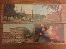 Lot of 4 Vintage Watertown NY Postcards, Public Square, Woolworth, Fountain
