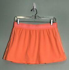 Nike Court Dri-Fit Neon Orange Athletic Tennis Skort Skirt Large Women's