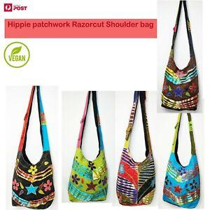 New Patchwork Handmade Hippie Shoulder Bag Razorcut Boho Multicolor Crossbody