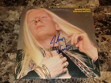 Johnny Winter Signed Vinyl LP Record Still Alive And Well Blues Guitar Photo COA