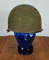 Vintage Military Army WWII Korean War Vietnam Helmet Hat Soybean Liner USMC