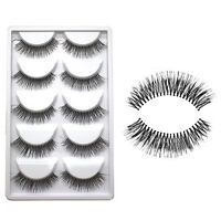 CHEAP 5Pairs Fashion Makeup Handmade Natural Long False Eyelashes Eye Lashes